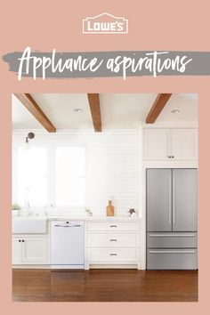 Find what you're looking for at Lowe's and bring your kitchen into the future – tap the Pin to learn more. Paint Colors For Living Room, Paint Colors For Home, House Colors, App Pin, Best Appliances, Small Room Bedroom, Lowes Home Improvements, Kitchen Design, Kitchen Ideas