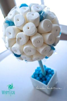 Blue White Teal Tiffany Blue Marshmallow by HollywoodCandyGirls, $49.99