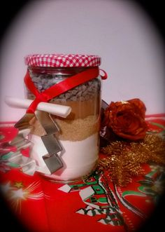 biscotti in realcooking Christmas Presents, Christmas Diy, Christmas Decorations, Jar Gifts, My Crazy, Wraps, Gift Wrapping, Packaging, Cake