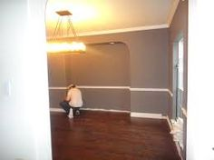 Image Result For Dining Room Color Chair Rail Neutral Wall