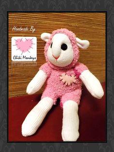 Handmade sock lamb: Izzy The original 100% hand by ChikiMonkeys