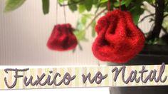 Usando fuxico para decoração de natal... uma ideia deliciosa de fazer! #diy #craft #artesanato #feitoamão #decoração #natal #fuxico #feltro #tsubrasil #decoraçãodenatal #natal2015