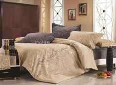 BEIGE TREE Queen Size Bed Quilt/Doona/Duvet Cover Set Pillowcase New 100% Cotton