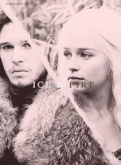 """""""Ice & Fire""""  Jon Snow & Daenerys Targaryen #GameofThrones"""
