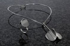 Poul Warmind Sterling Silver Neck Ring, Pendant and Ring  #EB360