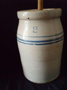 Antique Butter Churns On Pinterest Antique Stoneware