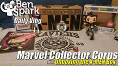 Unboxing Marvel Collector Corps X-Men Box  My latest Marvel Collector Corps Box arrived today. I unbox that after a quick car trip with the kids. I also filmed some SteamDads videos tonight but didn't take any vlog video once again. Maybe next week.  The Marvel Collector Corps Box was all about the X-Men this month. It was a pretty sweet box. Inside as a Pop Rides figure, Patch, Pin, T-shirt, Comic and a Rock Candy figure.