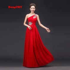 ==> [Free Shipping] Buy Best 2017 spring red long design one shoulder vestido longo plus size formal dress cheap long Weddings & Events evening dresses Online with LOWEST Price | 32646361768