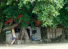 """""""The Culture Shack"""", art shop and home on the beach, Grande Riviere, Trinidad"""