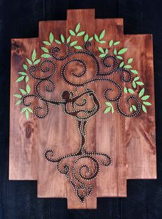 Tree of Life String Art Wall Cabinet by Edgeofthewoodsart on Etsy