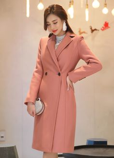 7eede2105 Stitch Detail Wool Blend Long Tailored Coat