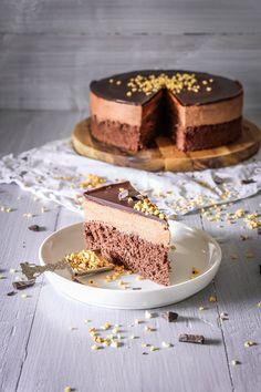 Einfache Schoko Mousse Torte Easy Cake Recipes, Apple Recipes, Baking Recipes, Dessert Recipes, Cake Tasting, Food Tasting, Chocolate Mousse Cake, Chocolate Desserts, Delicious Chocolate