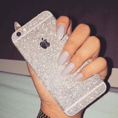 Silver Glitter iPhone Skin ✼ Available silver glitter skin for iPhone 6/6s/6+/6s+⭐️Visit our website to see more colors and styles: www.elementaccessories.net and follow us on Instagram: @element.accessories Accessories Phone Cases