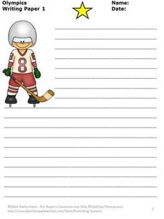 FREEBIE!!! Winter Olympics FREE: Here are three sample Olympic writing papers. There are so many used for these pages! Your students will be motivated to write! Enjoy!