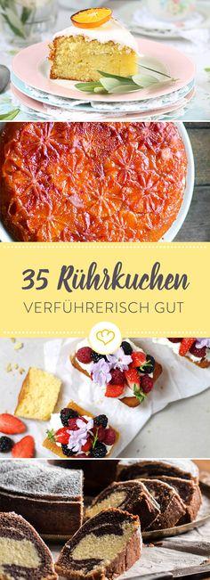 Lust auf ein kleines Kuchenabenteuer? Wie wäre es mit Schoko-, Rübli- oder doch lieber Orangenkuchen. Lass dich von 35 süßen Ideen zum Naschen verführen.