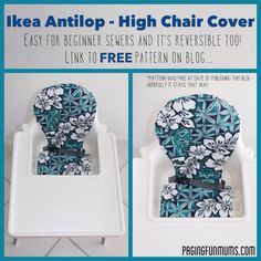 I'm very lucky to have a wonderful Fun Mum who also loves to sew! My kids call her 'Granty'. Granty just made my son a … Cute Desk Chair, Baby Chair, Desk Chairs, Room Chairs, Dining Chair, Ikea Antilop, Antilop High Chair, Ikea High Chair, High Chairs