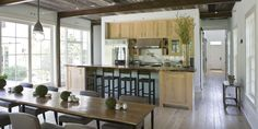 You can easily seat 12 in this dining room/kitchen...made for big gtherings.  McNear Residence