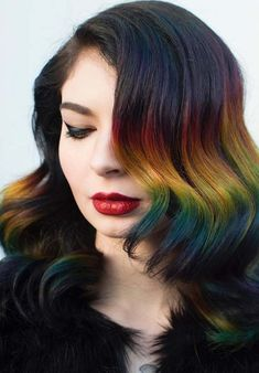 25 Charming Rainbow Hair Color Trends To Try in 2018