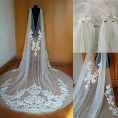 Wedding Cape Veil, Bridal Cape, Long Wedding Dresses, Tulle Wedding, Ivory Wedding, Wedding Jacket, Lace Wedding Veils, Wedding Ball Gowns, Wedding Dress Bolero
