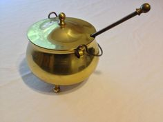 Antique Brass Smudge Pot  Firestarter by RomeysGallery on Etsy, $65.00