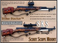 SKS, Rick Lowe™ Butt Stock Leather Ammo Carriers :: SKS Platform Products, 7.62x39 :: Brass Stacker™