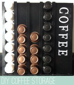 DIY Coffee Pod Storage | www.everyhomeiscastle.com