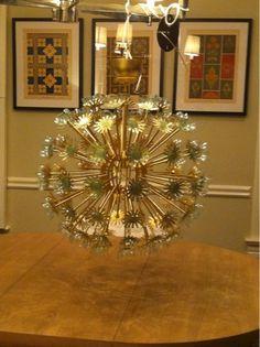 Sputnik chandelier (IKEA Maskros hack)