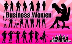 23 Vector Business Women Photoshop Shapes Free
