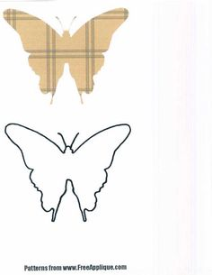 Free Applique Quilt Patterns | Free butterflies to use as patterns for applique, quilting or clipart: