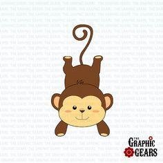 Monkey Clip Art  Cute Baby Monkey Clip Art  by GraphicGears, $2.00