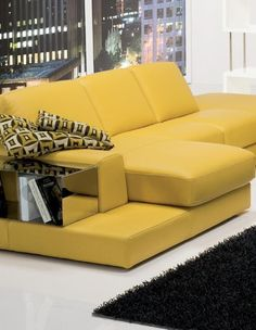 I want this couch, but in black or maybe camel.  [Modern interior design ideas and color trends]