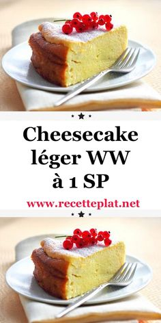 Here is the recipe for the 1 SP light cheesecake, a delicious cheesecake . - Here is the recipe for a light cheesecake at 1 SP, a delicious very light cheesecake, without fat, - Cheesecake Leger, Light Cheesecake, Ww Desserts, Healthy Dessert Recipes, Cake Recipes, Diabetic Snacks, Diabetic Recipes, Food Truck, Diabetes Mellitus Typ 2