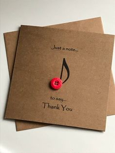 This Button Art Designed Thank You Card Is A Perfect Rustic Greetings For Expressing Your Thanks Just Note To Say Birthday Or