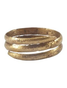 ANCIENT VIKING COIL RING 850-1050 AD
