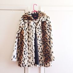 Motel Leopard Coat Faux fur & fully lined inside. Purchased from nastygal.com brand new never worn. Brand is motel. Nasty Gal Jackets & Coats