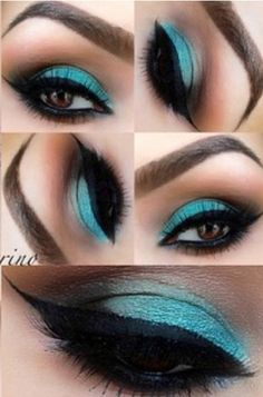 Love this turquoise with brown contouring