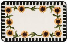 """Décor Ivory """"Sunflower"""" Area Rug"""