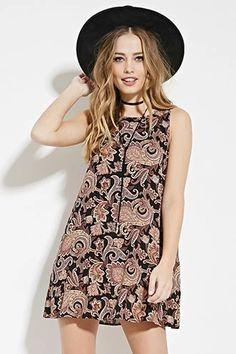 Paisley Print Mini Dress | Forever 21 #boho