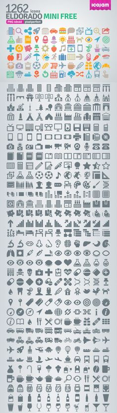 Eldorado - 1262 Free Icons | Web Design Freebies