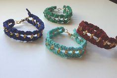 Leather Bracelet - Golden Chain