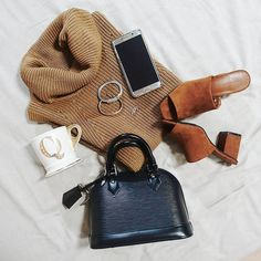 LOUIS VUITTON Alma BB Epi Leather Black bag | ZARA mules | CHARRIOL bracelet | ANTHROPOLOGIE Q letter mug | SAMSUNG Galaxy Note 5 | instagram: @quennandher | https://instagram.com/quennandher | Street...