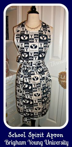 School Spirit Apron BYU edition You can order any by mimisneedle