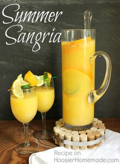 Refreshing Summer Sangria - Hoosier Homemade