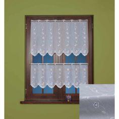 Berry, bílý vyšívaný voál/výška 60cm/ Curtains, Home Decor, Blinds, Decoration Home, Room Decor, Draping, Home Interior Design, Picture Window Treatments, Home Decoration