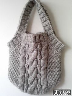 inspiration to recycle a cabled jumper into this....