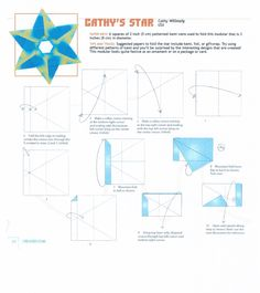 Origami diagram for Cathy's star - Page 1 - 6 point modular star. Very similar to Hexa Origami Star by Francis Ow.
