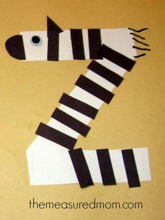 letter Z craft 4 the measured mom Crafts for Letter Z
