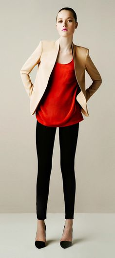 Colorblocking—Zara's Spring 2011 collection is all about smooth, clean lines and…