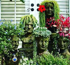 Heck who wouldn't want a family of head dolls lol!  http://pin.it/y8nqWed #confessionsofafurniturehoarder #fall2016 #yardsalediva #fleamarketqueen #succulents