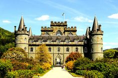 Beautiful Inveraray Castle in Scotland, seat of the Duke of Argyll, and a great post on the historic last name Campbell. Are you a Campbell? Read more.